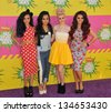 LOS ANGELES, CA - MARCH 23, 2013: Little Mix - Leigh-Anne Pinnock, Jade Thirlwall, Perrie Edwards & Jesy Nelson - at Nickelodeon's 26th Annual Kids' Choice Awards at the Galen Centre, Los Angeles. - stock photo