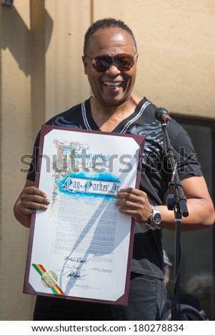 LOS ANGELES, CA - MARCH 6, 2014: Ray Parker Jr honored with the 2,518th star on the Hollywood Walk of Fame