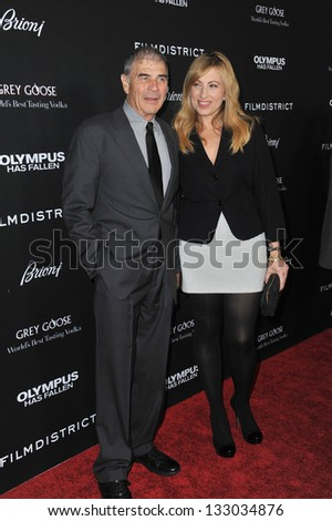 "LOS ANGELES, CA - MARCH 18, 2013: Robert Forster at the Los Angeles premiere of his movie ""Olympus Has Fallen"" at the Cinerama Dome, Hollywood."