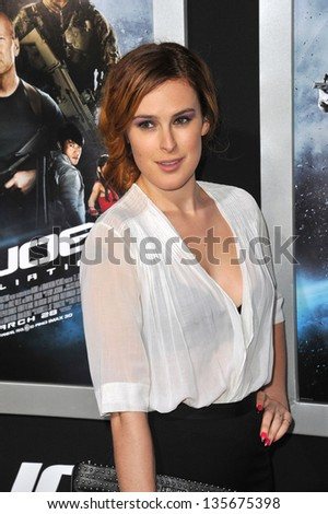 """LOS ANGELES, CA - MARCH 28, 2013: Rumer Willis at the Los Angeles premiere of """"G.I. Joe: Retaliation"""" at the Chinese Theatre, Hollywood. - stock photo"""