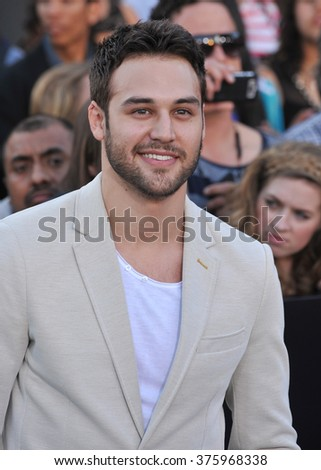 "LOS ANGELES, CA - MARCH 18, 2014: Ryan Guzman at the Los Angeles premiere of ""Divergent"" at the Regency Bruin Theatre, Westwood."