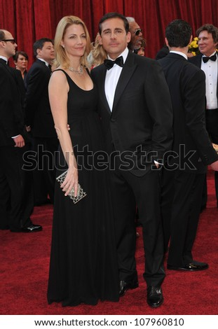 LOS ANGELES, CA - MARCH 7, 2010: Steve Carrell at the 82nd Annual Academy Awards at the Kodak Theatre, Hollywood.