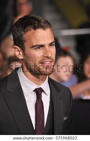 "LOS ANGELES, CA - MARCH 18, 2014: Theo James at the Los Angeles premiere of his movie ""Divergent"" at the Regency Bruin Theatre, Westwood."