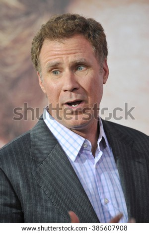 "LOS ANGELES, CA - MARCH 25, 2015: Will Ferrell at the Los Angeles premiere of his movie ""Get Hard"" at the TCL Chinese Theatre, Hollywood. - stock photo"