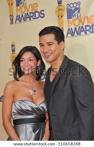 LOS ANGELES, CA - MAY 31, 2009: Courtney Laine Mazza & Mario Lopez at the 2009 MTV Movie Awards at Universal Studios Hollywood. - stock photo