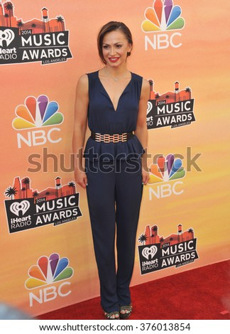 LOS ANGELES, CA - MAY 1, 2014: Karina Smirnoff at the 2014 iHeartRadio Music Awards at the Shrine Auditorium, Los Angeles.
