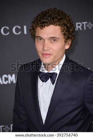 LOS ANGELES, CA - NOVEMBER 7, 2015: Actor Karl Glusman at the 2015 LACMA Art+Film Gala at the Los Angeles County Museum of Art