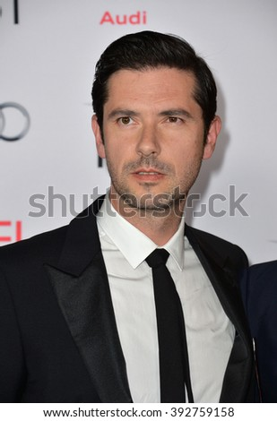 "LOS ANGELES, CA - NOVEMBER 5, 2015: Actor Melvil Poupaud at the AFI Festival premiere of his movie ""By the Sea"" at the TCL Chinese Theatre"