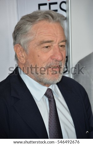 LOS ANGELES, CA. November 11, 2016: Actor Robert De Niro at premiere of