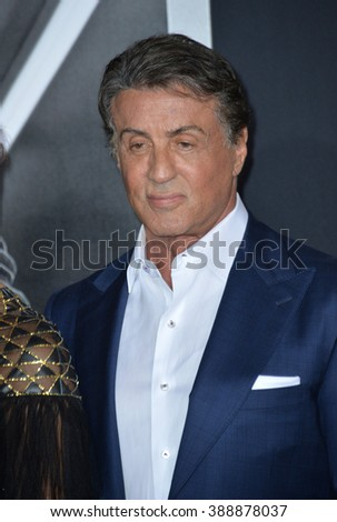 "LOS ANGELES, CA - NOVEMBER 19, 2015: Actor Sylvester Stallone at the Los Angeles World premiere of ""Creed"" at the Regency Village Theatre, Westwood."