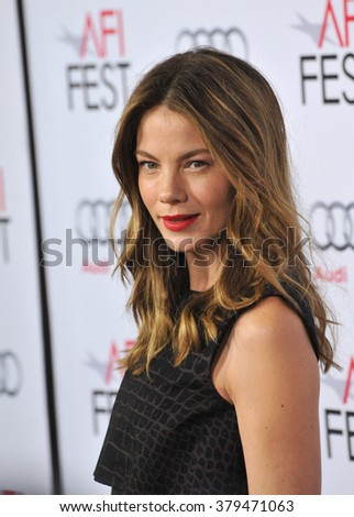 LOS ANGELES, CA - NOVEMBER 12, 2014: Actress Michelle Monaghan at the American Film Institute's special tribute gala honoring Sophia Loren at the Dolby Theatre.