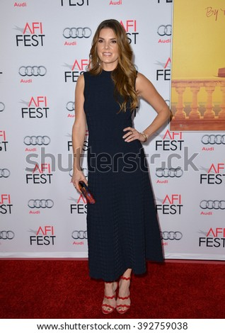 "LOS ANGELES, CA - NOVEMBER 5, 2015: Actress Nikki Moore at the AFI Festival premiere of ""By the Sea"" at the TCL Chinese Theatre"