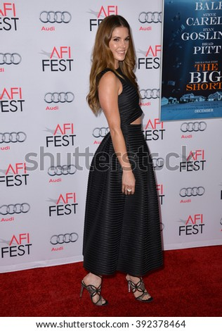 "LOS ANGELES, CA - NOVEMBER 12, 2015: Actress Nikki Moore at the world premiere of ""The Big Short"" at the TCL Chinese Theatre"