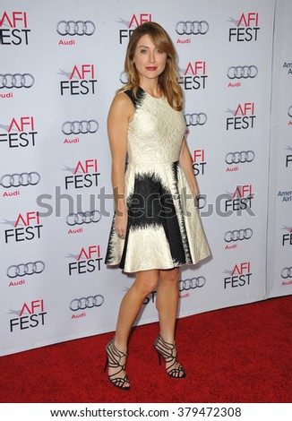 LOS ANGELES, CA - NOVEMBER 12, 2014: Actress Sasha Alexander at the American Film Institute's special tribute gala honoring Sophia Loren at the Dolby Theatre. - stock photo