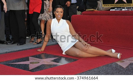 LOS ANGELES, CA - NOVEMBER 13, 2013: Actress/singer Jennifer Hudson is honored with the 2,512th star on the Hollywood Walk of Fame.