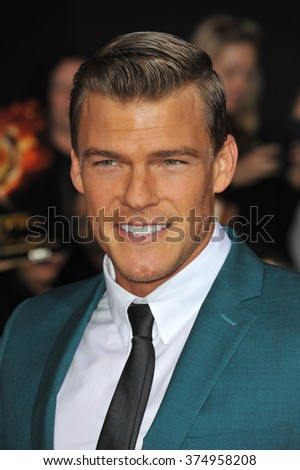 "LOS ANGELES, CA - NOVEMBER 18, 2013: Alan Ritchson at the US premiere of his movie ""The Hunger Games: Catching Fire"" at the Nokia Theatre LA Live. Picture: Paul Smith / Featureflash"