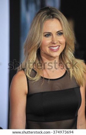 "LOS ANGELES, CA - NOVEMBER 4, 2013: Anna Hutchison at the US premiere of ""Thor: The Dark World"" at the El Capitan Theatre, Hollywood. Picture: Paul Smith / Featureflash - stock photo"