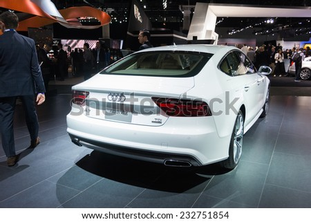 Los Angeles, CA - November 19, 2014: Audi A7 2015 on display on display at the LA Auto Show