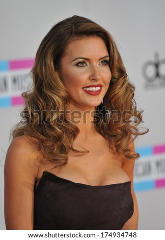 LOS ANGELES, CA - NOVEMBER 20, 2011: Audrina Patridge arriving at the 2011 American Music Awards at the Nokia Theatre, L.A. Live in downtown Los Angeles.