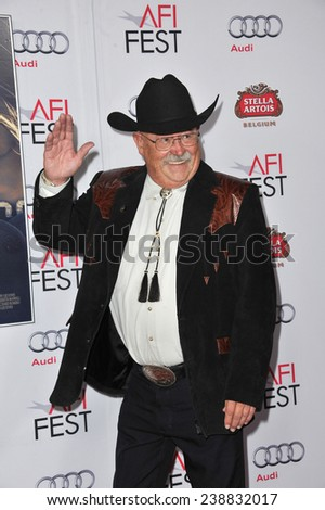 "LOS ANGELES, CA - NOVEMBER 11, 2014: Barry Corbin at the gala screening of his movie ""The Homesman"" as part of the AFI Fest 2014 at the Dolby Theatre, Hollywood."