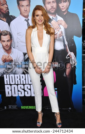 "LOS ANGELES, CA - NOVEMBER 4, 2014: Bella Thorne at the Los Angeles premiere of ""Horrible Bosses 2"" at the TCL Chinese Theatre, Hollywood.  - stock photo"