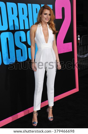 """LOS ANGELES, CA - NOVEMBER 20, 2014: Bella Thorne at the Los Angeles premiere of """"Horrible Bosses 2"""" at the TCL Chinese Theatre, Hollywood. - stock photo"""