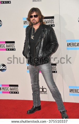 LOS ANGELES, CA - NOVEMBER 24, 2013: Billy Ray Cyrus at the 2013 American Music Awards at the Nokia Theatre, LA Live.