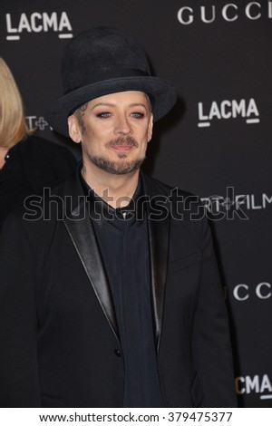 LOS ANGELES, CA - NOVEMBER 1, 2014: Boy George at the 2014 LACMA Art+Film Gala at the Los Angeles County Museum of Art.