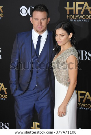 LOS ANGELES, CA - NOVEMBER 14, 2014: Channing Tatum & Jenna Dewan-Tatum at the 2014 Hollywood Film Awards at the Hollywood Palladium.