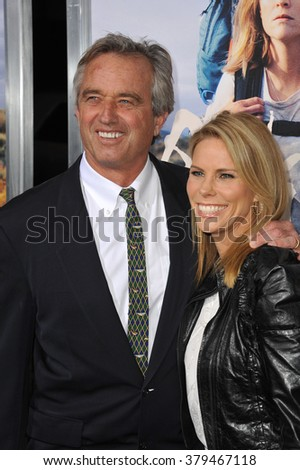 "LOS ANGELES, CA - NOVEMBER 19, 2014: Cheryl Hines & husband Robert Kennedy Jr. at the Los Angeles premiere of  ""Wild"" at the Samuel Goldwyn Theatre, Beverly Hills."