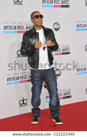 LOS ANGELES, CA - NOVEMBER 18, 2012: Chris Bridges, aka Ludacris, at the 40th Anniversary American Music Awards at the Nokia Theatre LA Live.