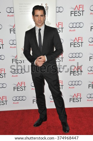 "LOS ANGELES, CA - NOVEMBER 7, 2013: Colin Farrell at the premiere of his movie ""Saving Mr Banks"" at the TCL Chinese Theatre, Hollywood. Picture: Paul Smith / Featureflash"