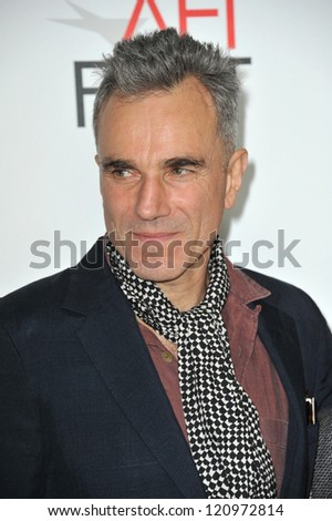 "LOS ANGELES, CA - NOVEMBER 8, 2012: Daniel Day-Lewis at the AFI Fest premiere of his movie ""Lincoln"" at Grauman's Chinese Theatre, Hollywood. - stock photo"