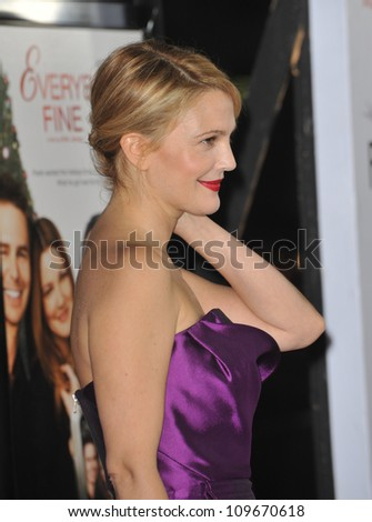 "LOS ANGELES, CA - NOVEMBER 3, 2009: Drew Barrymore at the world premiere of her new movie ""Everybody's Fine"" at Grauman's Chinese Theatre, Hollywood."