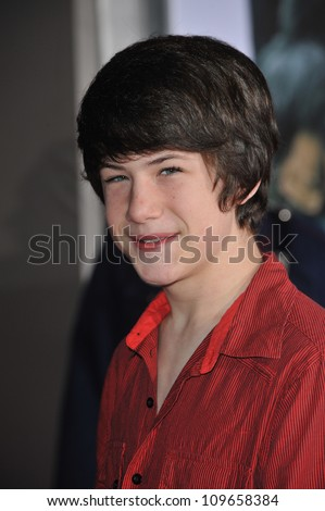 "LOS ANGELES, CA - NOVEMBER 9, 2009: Dylan Minnette at the world premiere of Walt Disney's ""Old Dogs"" at the El Capitan Theatre, Hollywood. - stock photo"