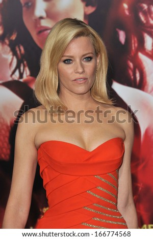 "LOS ANGELES, CA - NOVEMBER 18, 2013: Elizabeth Banks at the US premiere of her movie ""The Hunger Games: Catching Fire"" at the Nokia Theatre LA Live."