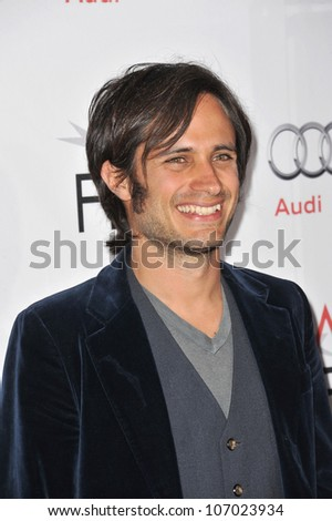 "LOS ANGELES, CA - NOVEMBER 7, 2010: Gael Garcia Bernal at the AFI Fest premiere of ""Abel"" at Grauman's Chinese Theatre, Hollywood. November 7, 2010  Los Angeles, CA"