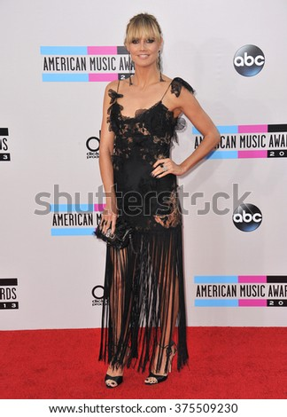 LOS ANGELES, CA - NOVEMBER 24, 2013: Heidi Klum at the 2013 American Music Awards at the Nokia Theatre, LA Live.  - stock photo