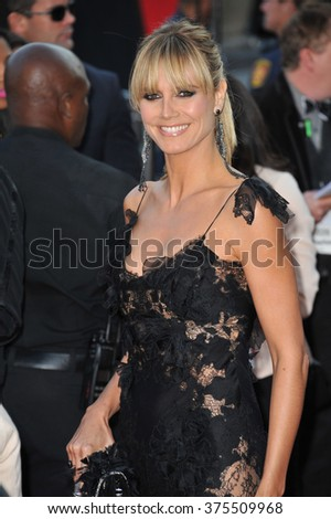 LOS ANGELES, CA - NOVEMBER 24, 2013: Heidi Klum at the 2013 American Music Awards at the Nokia Theatre, LA Live.