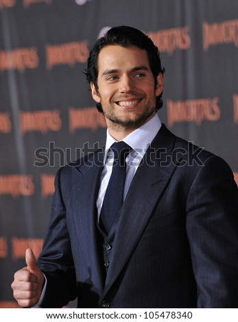 "LOS ANGELES, CA - NOVEMBER 7, 2011: Henry Cavill at the world premiere of his new movie ""Immortals"" at the Nokia Theatre L.A. Live in downtown Los Angeles. November 7, 2011  Los Angeles, CA"