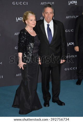 LOS ANGELES, CA - NOVEMBER 7, 2015: Ivan Reitman & wife at the 2015 LACMA Art+Film Gala at the Los Angeles County Museum of Art