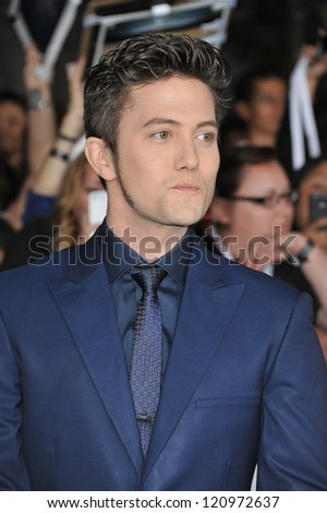 "LOS ANGELES, CA - NOVEMBER 12, 2012: Jackson Rathbone at the world premiere of his movie ""The Twilight Saga: Breaking Dawn - Part 2"" at the Nokia Theatre LA Live."