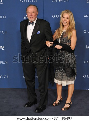 LOS ANGELES, CA - NOVEMBER 2, 2013: James Caan & wife Linda at the 2013 LACMA Art+Film Gala at the Los Angeles County Museum of Art.