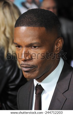 "LOS ANGELES, CA - NOVEMBER 4, 2014: Jamie Foxx at the Los Angeles premiere of his movie ""Horrible Bosses 2"" at the TCL Chinese Theatre, Hollywood."