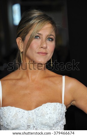 """LOS ANGELES, CA - NOVEMBER 20, 2014: Jennifer Aniston at the Los Angeles premiere of her movie """"Horrible Bosses 2"""" at the TCL Chinese Theatre, Hollywood. - stock photo"""