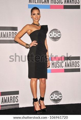 LOS ANGELES, CA - NOVEMBER 21, 2010: Jessica Alba at the 2010 American Music Awards at the Nokia Theatre L.A. Live. - stock photo