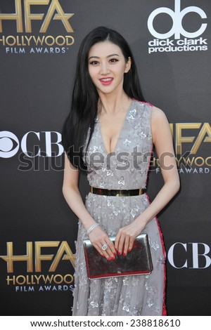 LOS ANGELES, CA - NOVEMBER 14, 2014: Jing Tian at the 2014 Hollywood Film Awards at the Hollywood Palladium.