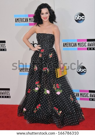 LOS ANGELES, CA - NOVEMBER 24, 2013: Katy Perry at the 2013 American Music Awards at the Nokia Theatre, LA Live.  - stock photo