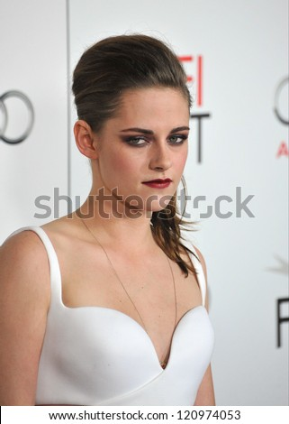 "LOS ANGELES, CA - NOVEMBER 3, 2012: Kristen Stewart at the AFI Fest premiere of her movie ""On The Road"" at Grauman's Chinese Theatre, Hollywood."