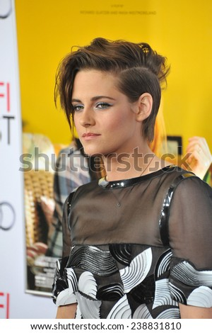 "LOS ANGELES, CA - NOVEMBER 12, 2014: Kristen Stewart at the premiere of her movie ""Still Alice"" as part of the AFI FEST 2014 at the Dolby Theatre, Hollywood.   - stock photo"